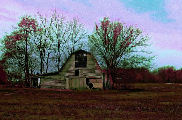 Pyrography - The Old Barn Awaits The Night by Bonnie Willis