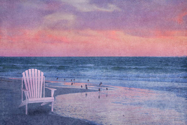 Sandpiper Photograph - The Old Beach Chair by Betsy Knapp