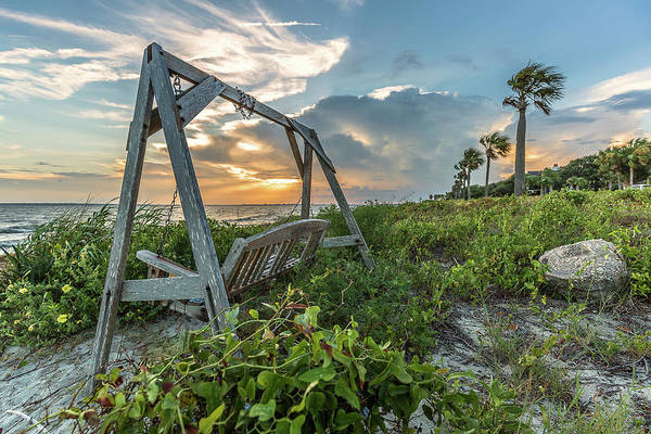 Photograph - The Old Beach Swing -  Sullivan's Island, Sc by Donnie Whitaker