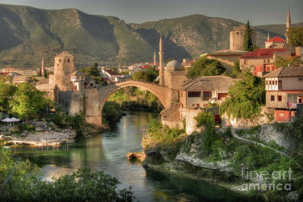 Wall Art - Photograph - The Old Bridge Of Mostar  by Rob Hawkins