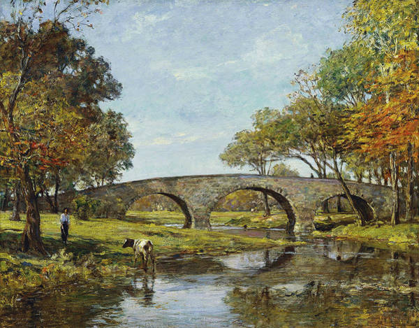 Painting - The Old Bridge by Theodore Robinson