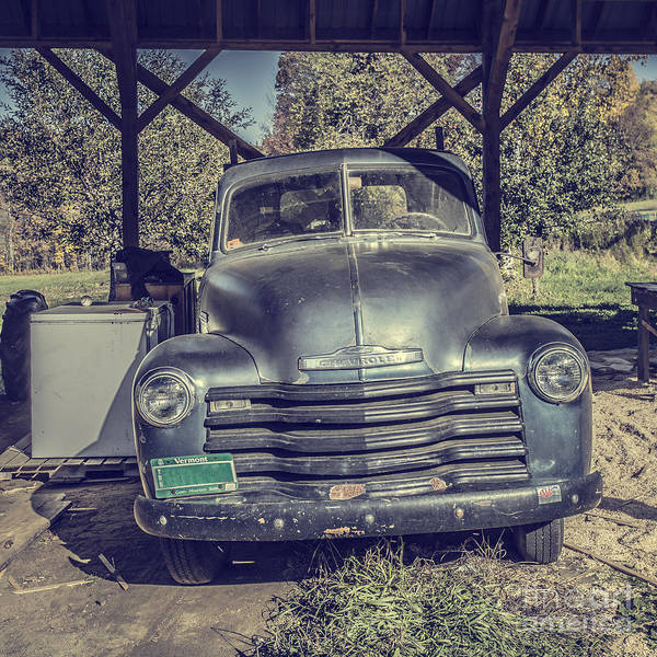 Wall Art - Photograph - The Old Chevy Vermont by Edward Fielding