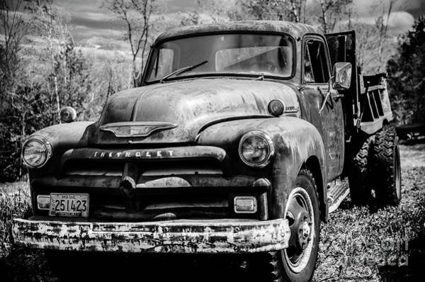 Dump Truck Photograph - The Old Chevyolet Truck by Alana Ranney