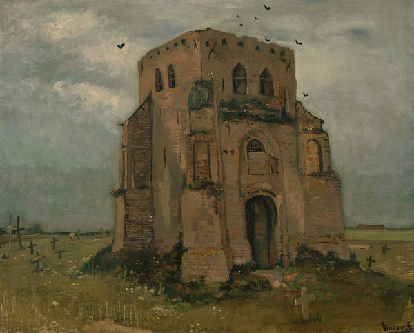 Painting - The Old Church Tower At Nuenen by Vincent van Gogh