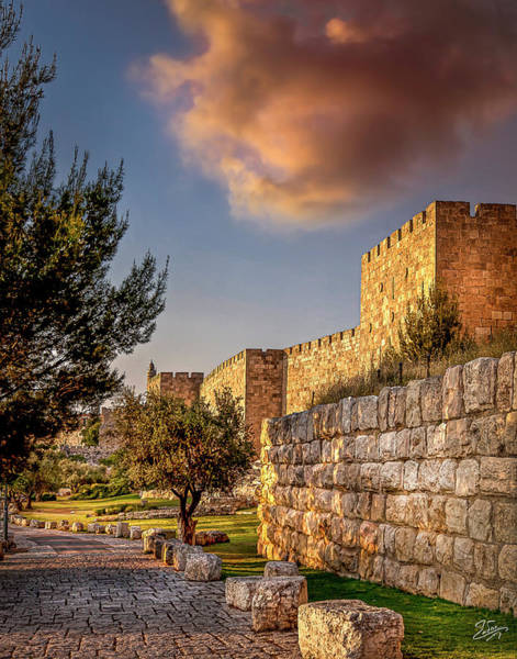 Photograph - The Old City Walls At Sunset by Endre Balogh