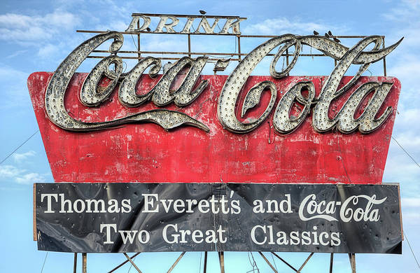 Photograph - The Old Coca-cola Sign by JC Findley