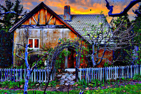 Mixed Media - The Old Cottage by Glenn McCarthy Art and Photography