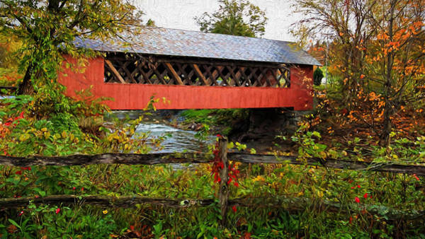 Photograph - The Old Creamery Covered Bridge by Susan Rissi Tregoning