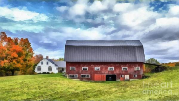 Dairy Painting - The Old Dairy Barn Etna New Hampshire by Edward Fielding