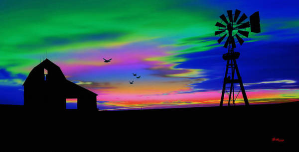 Wind Vane Digital Art - The Old Farm by Gregory Murray