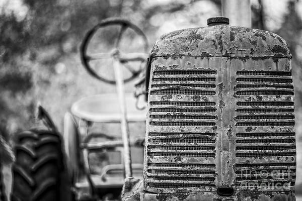Dof Photograph - The Old Farm Tractor by Edward Fielding