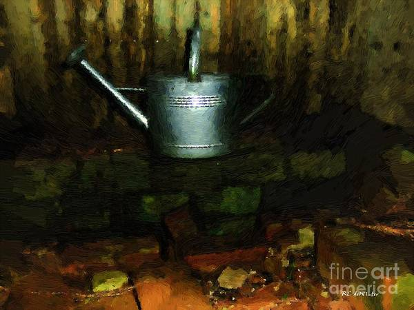 Painting - The Old Firepit by RC DeWinter