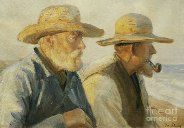 Wall Art - Painting - The Old Fishermen by Michael Ancher