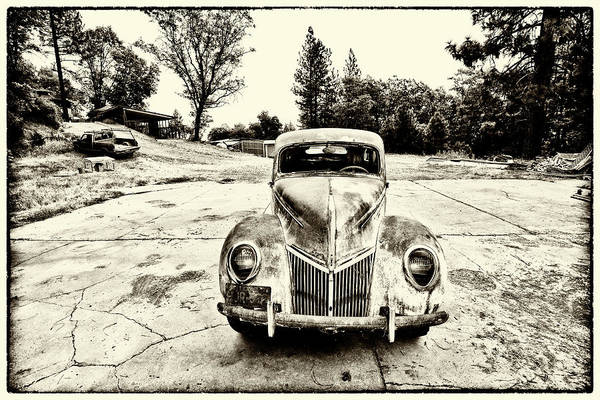 Clunker Wall Art - Photograph - The Old Ford by Tom Kelly