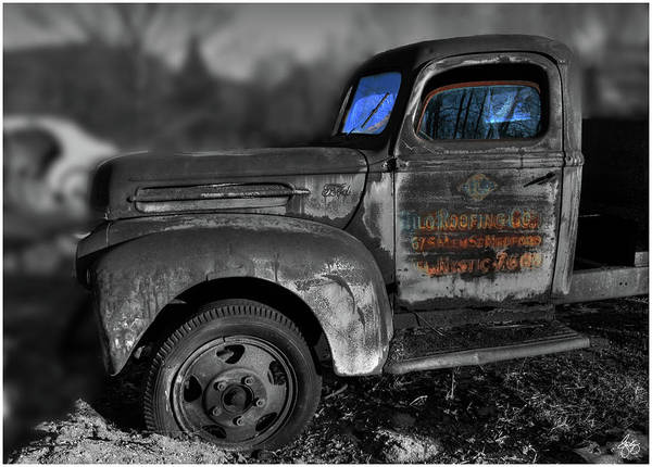 Photograph - The Old Fords Blue Windows by Wayne King