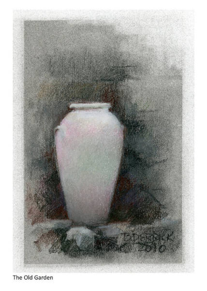 Pastel - The Old Garden by Betsy Derrick