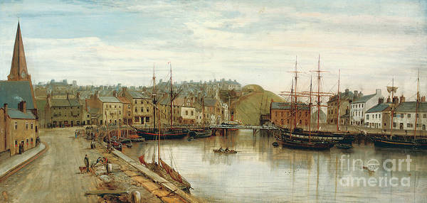 Wall Art - Painting - The Old Harbor, Maryport, 1896 by William Mitchell of Maryport