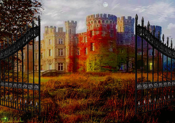 Digital Art - The Old Haunted Castle by Michael Rucker
