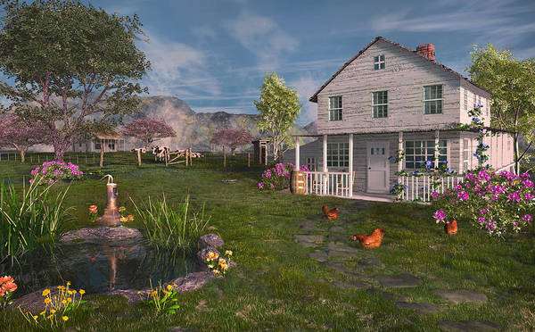 Digital Art - The Old Home Place by Mary Almond