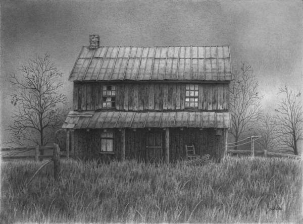 Homestead Drawing - The Old Home Place by Ralph Cale