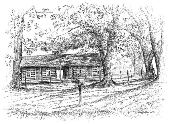Homestead Drawing - The Old Homeplace by Randy Welborn