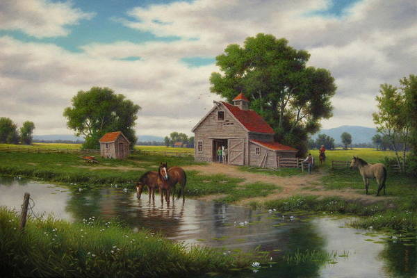 Wall Art - Painting - The Old Horse Barn by Barry DeBaun