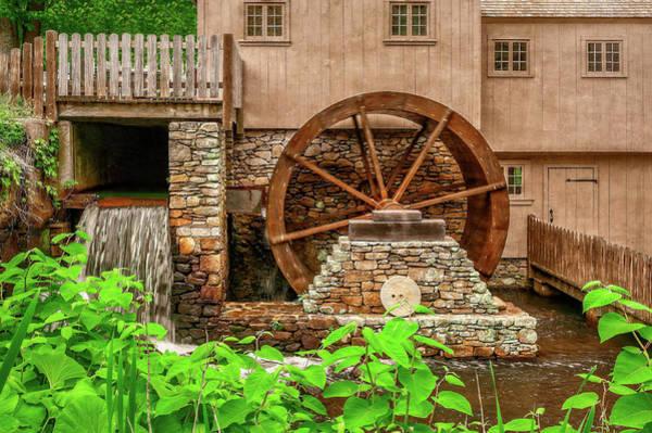 Plymouth Rock Photograph - The Old Jenney Grist Mill  -  Theoldmillsalemmala by Frank J Benz