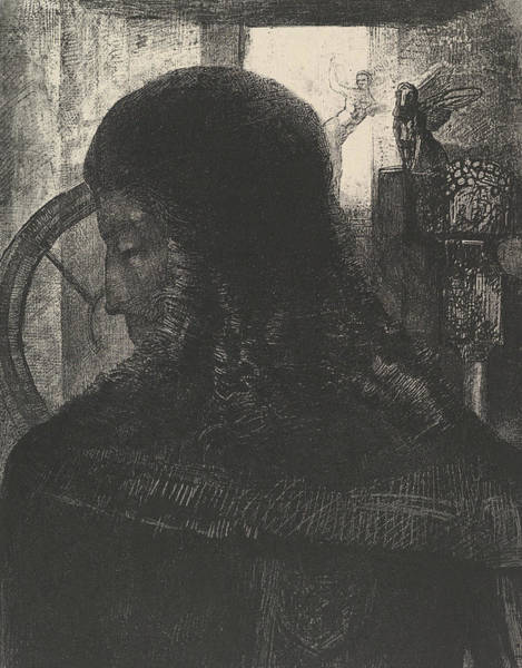 Relief - The Old Knight by Odilon Redon