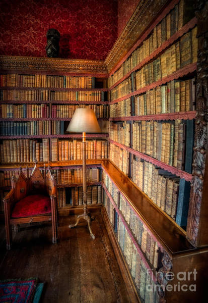 Book Shelf Photograph - The Old Library by Adrian Evans