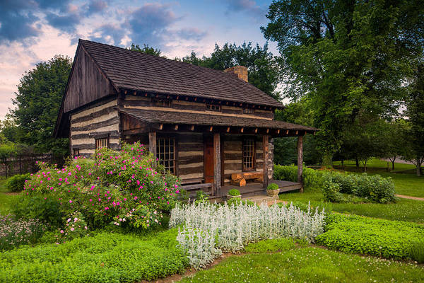 Raccoons Photograph - The Old Log Home  by Emmanuel Panagiotakis