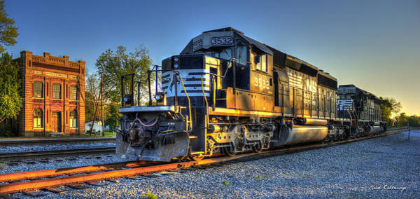 Norfolk Southern Wall Art - Photograph - The Old Meets The New Wrightsville And Tennille R R Co by Reid Callaway