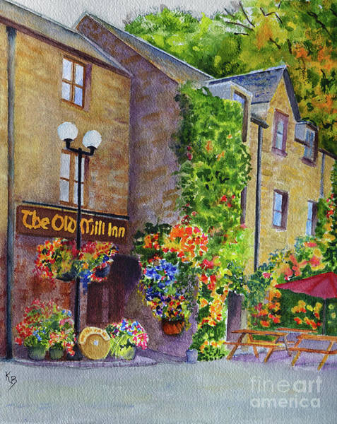 Painting - The Old Mill Inn by Karen Fleschler