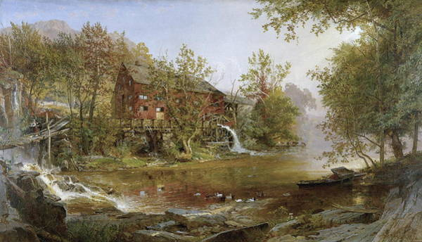 Wall Art - Painting - The Old Mill by Jasper Francis Cropsey