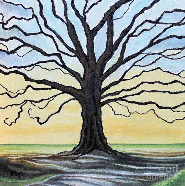Painting - The Stained Old Oak Tree by Elizabeth Robinette Tyndall