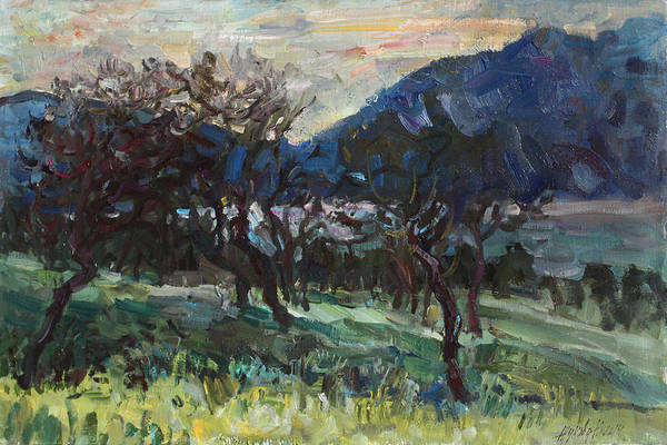Wall Art - Painting - The Old Olive Trees by Juliya Zhukova