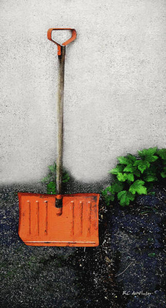 Painting - The Old Orange Shovel by RC DeWinter
