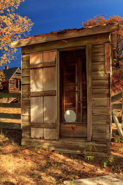 Photograph - The Old Outhouse by James Eddy