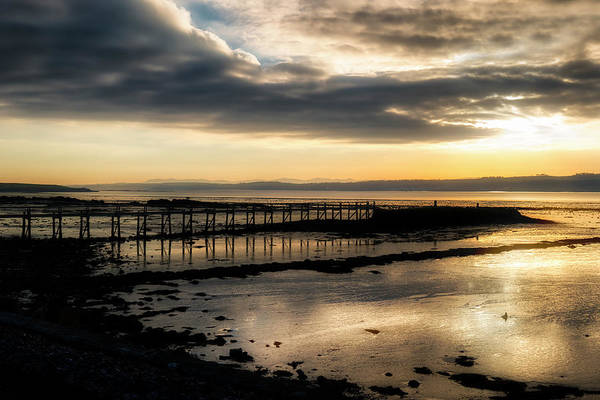 The Old Pier In Culross, Scotland Art Print