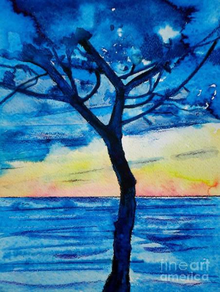 Camogli Painting - The Old Pine Tree by Alberta Boato