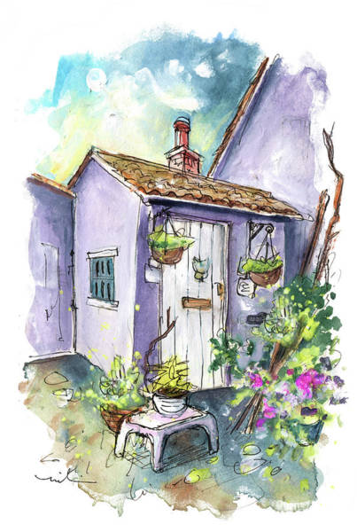 Painting - The Old Quay Cottage In Watchet by Miki De Goodaboom