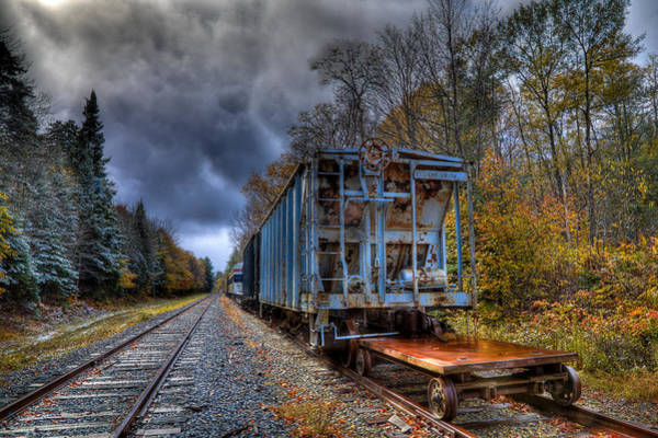 Photograph - The Old Railroad Cars In Thendara by David Patterson