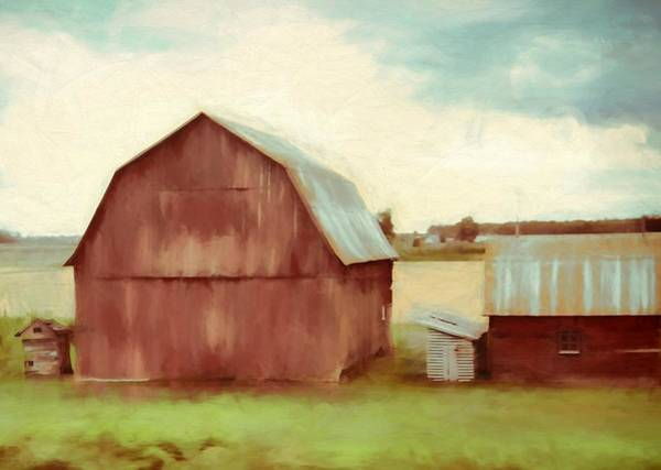 Wall Art - Painting - The Old Red Barn by Dan Sproul