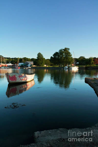 Photograph - The Old Red Boat At High Tide by Terri Waters