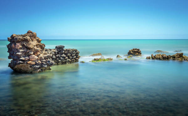 Photograph - The Old Sea Wall. by Gary Gillette