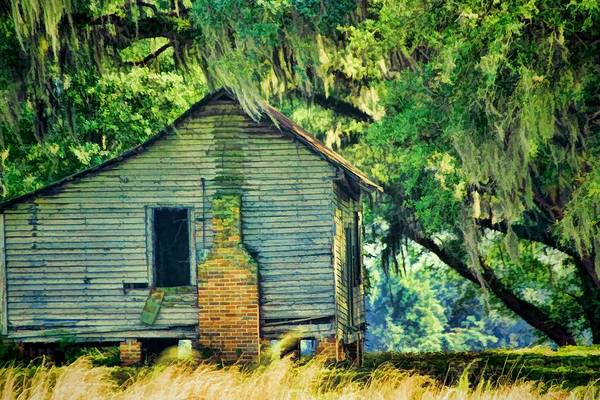 Historic House Digital Art - The Old Slaves Quarters by Jan Amiss Photography