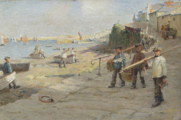 Newlyn Painting - The Old Slip by Celestial Images