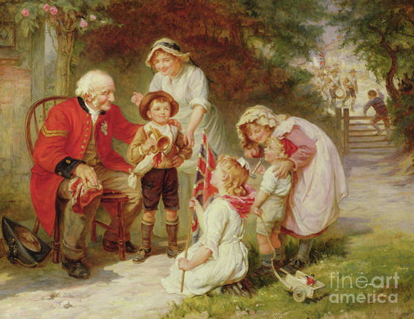 In Service Painting - The Old Soldier by Frederick Morgan