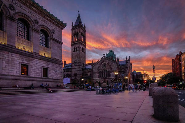 Photograph - The Old South Church At Sunset by Kristen Wilkinson