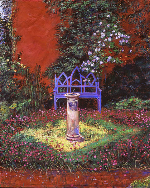 Wall Art - Painting - The Old Sundial by David Lloyd Glover