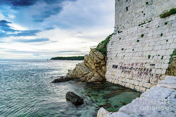 Photograph - The Old Town Meets The Adriatic, Rab, Croatia by Global Light Photography - Nicole Leffer
